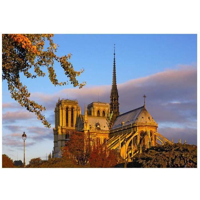 Peinture Diamant DIY Construction Notre Dame de Paris Broderie Diamant Notre Dame de Paris Diamant Notre Dame@Z2726