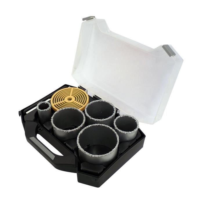 SMARTOOL Mallette 7 pièces trépans ø 33-83 mm pour carbure, brique et faïence