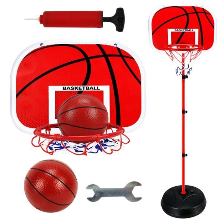 1 set de support de basket-ball pour enfants en métal Shot Sports intérieurs en plein air Cadre de levage pour 2 joueurs de - 1,7