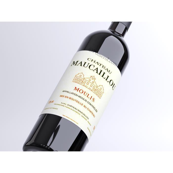 VIN ROUGE X6 Château Maucaillou 2017 - AOC Moulis - Cru Bour
