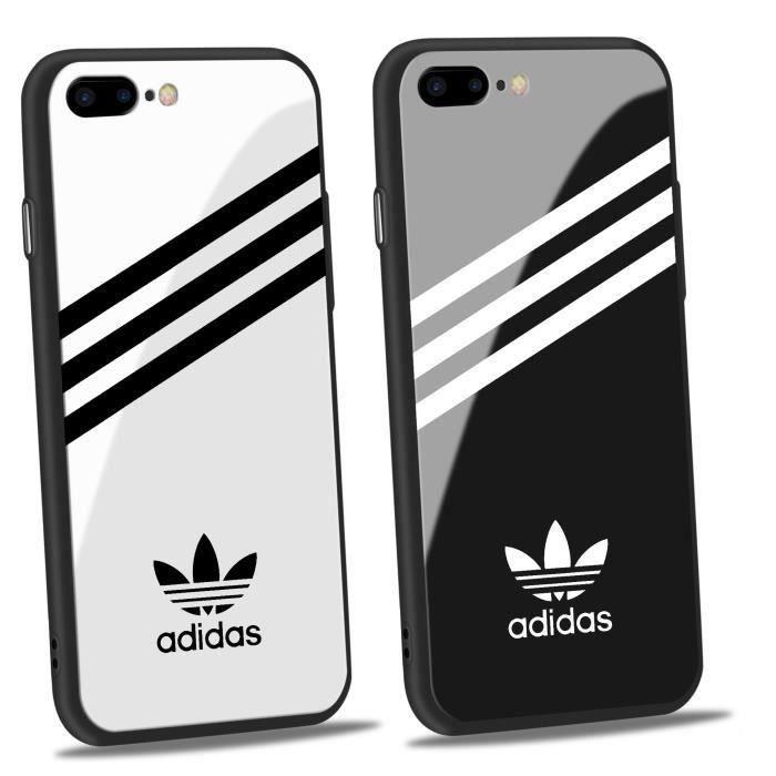 2pcs adidas coque iphone 6 6s verre coque blanc