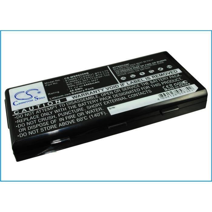 BATTERIE INFORMATIQUE Batterie ordinateur msi cx620-035au