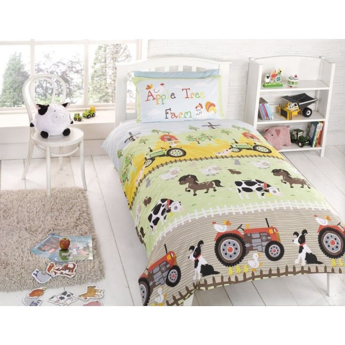 parure de lit housse de couette tracteur ferme achat. Black Bedroom Furniture Sets. Home Design Ideas