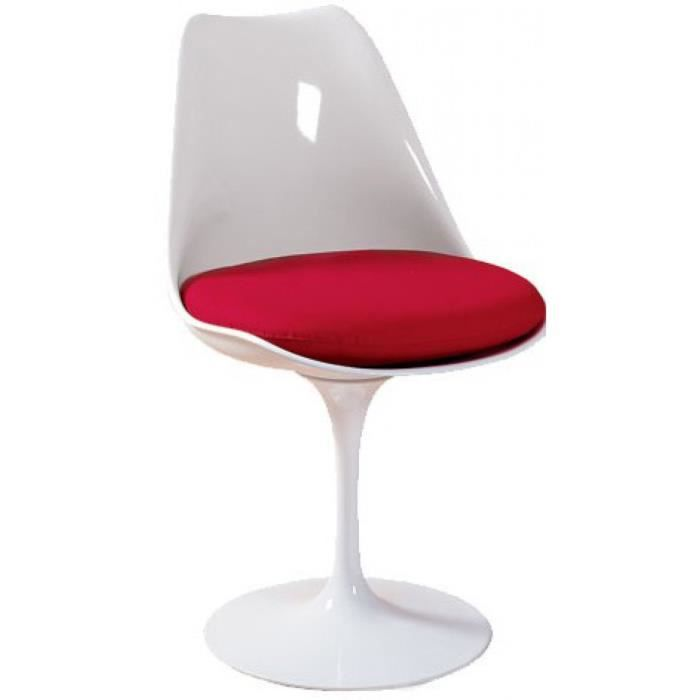Chaise pied tulipe fly for Chaise fly rouge