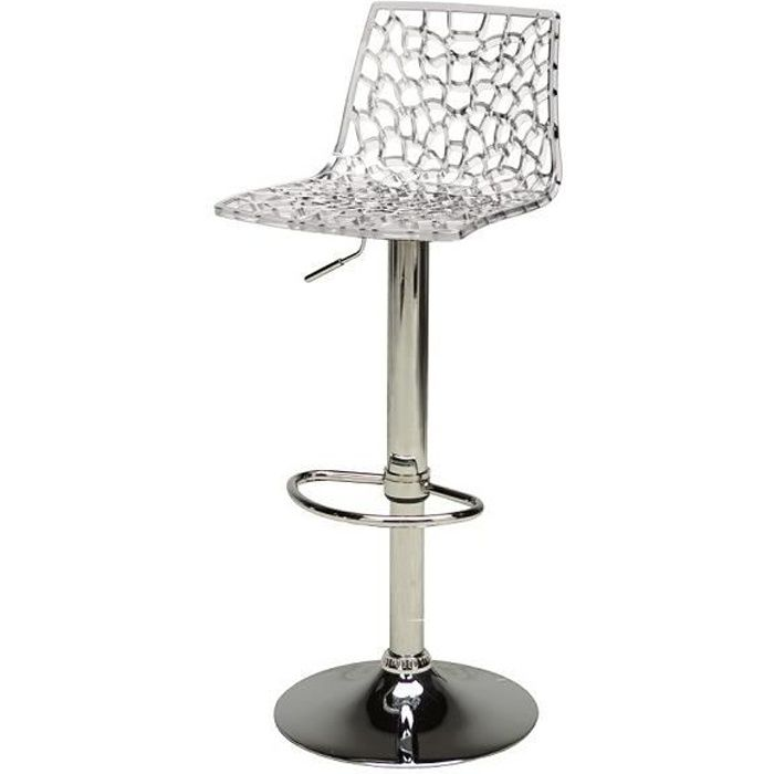 tabouret de bar transparent design spider achat vente tabouret de bar polycarbonate m tal. Black Bedroom Furniture Sets. Home Design Ideas