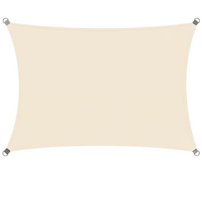 Voile pare-soleil Protection Solaire Marquise Etanche 96/% protection UV Personnalisable Gris