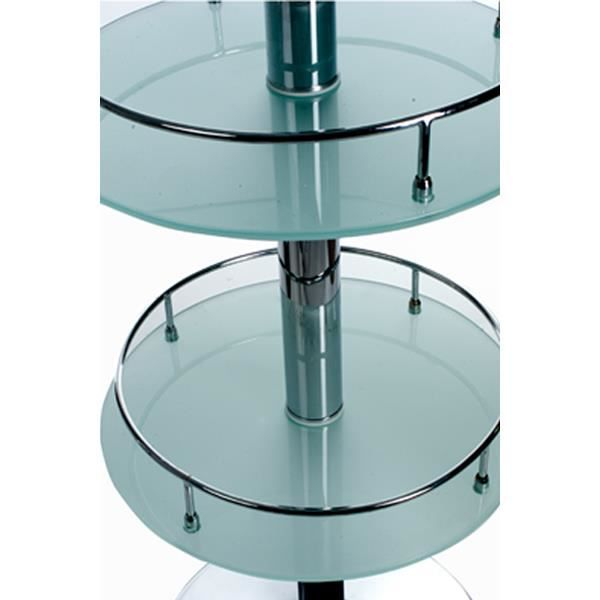 Table bar design en verre de couleur transparente achat vente mange debou - Table de bar en verre ...