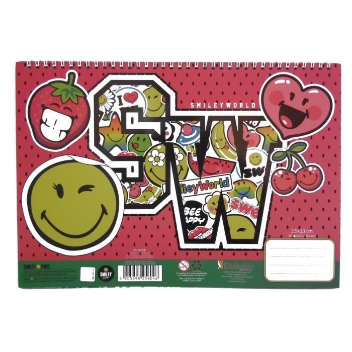 Cahier Coloriage Fruits.Cahier De Dessin Smiley Livre De Coloriage Stickers Regle Pochoir