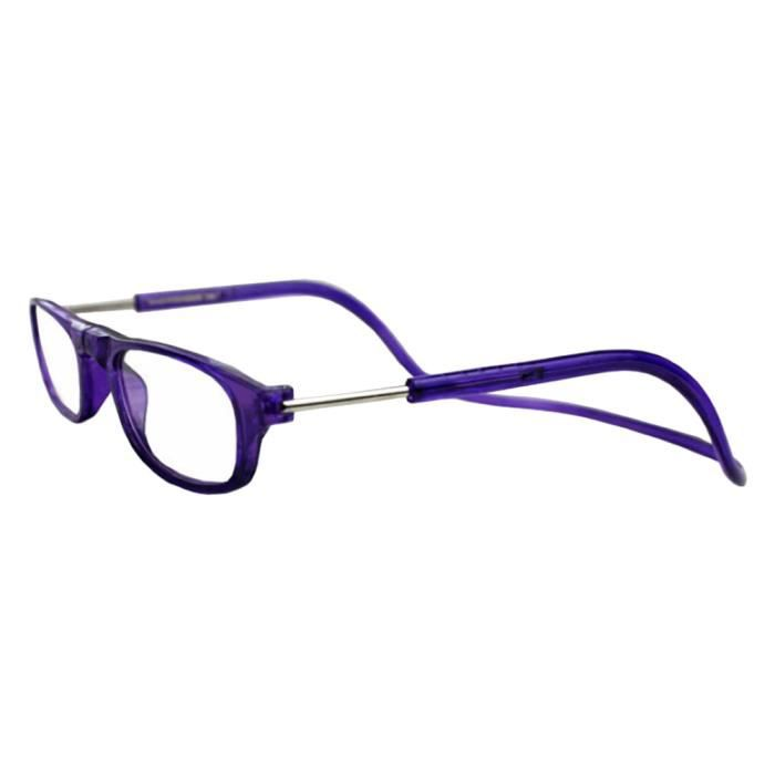 155c209f690 Hicollie® +2.0 Violet Lunette De Lecture Anti-Fatigue Loupe Radiation  Protection Presbytie Aimant Léger