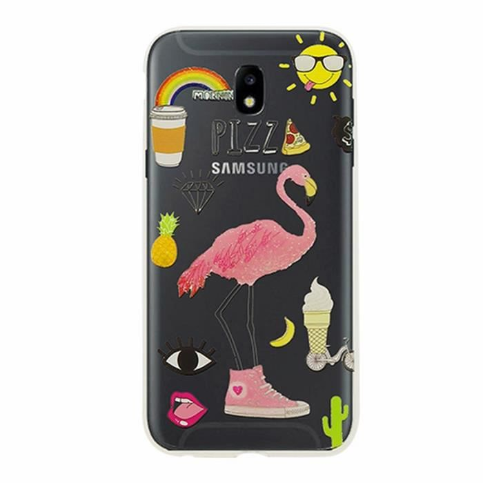 coque samsung j3 flamant rose