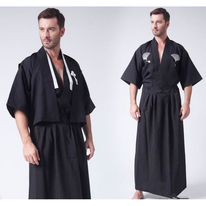 kimono japonais homme photo color achat vente nuisette d shabill cdiscount. Black Bedroom Furniture Sets. Home Design Ideas