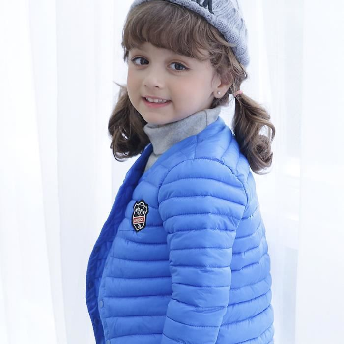 enfant manteau doudoune gar on fille b b plume veste hiver chaud bleu bleu achat vente. Black Bedroom Furniture Sets. Home Design Ideas