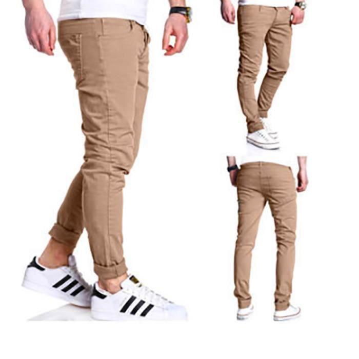 Pantalon Homme type Mince à entrejambe baggy