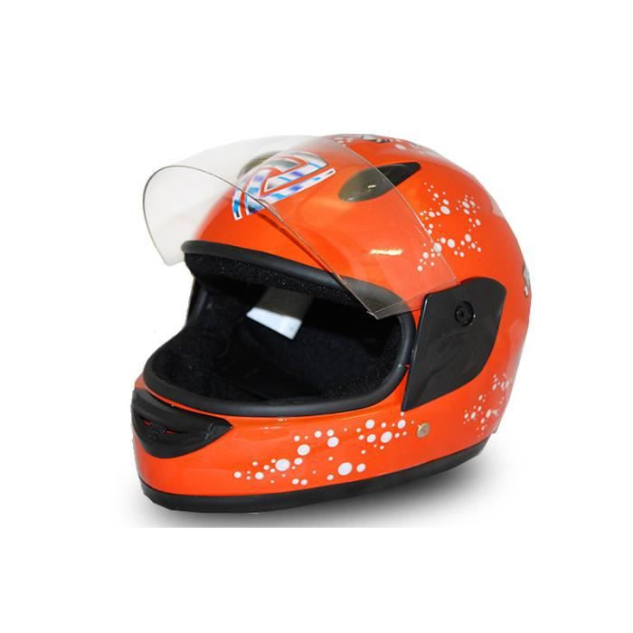 full face helmet casque integrale moto pour enfant orange l achat vente casque moto scooter. Black Bedroom Furniture Sets. Home Design Ideas