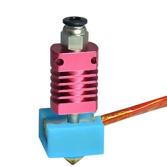 Aibecy Kit dextrudeuse en m/étal double couleur 2 en 1 sortie avec c/âble buse en laiton de 0,4 mm chaleur dimpression 24 V compatible avec limprimante 3D s/érie CR-10 Ender-3