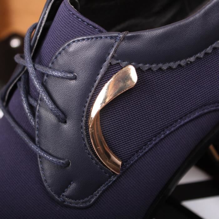 d'affaires British Fashion Hommes Styliste Chaussures Pointu Baskets Montantes augmentation