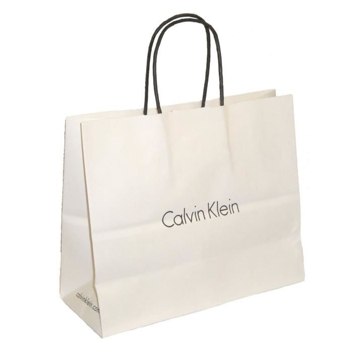 sac calvin klein en papier pour vos cadeaux calvin klein blanc achat vente sac shopping. Black Bedroom Furniture Sets. Home Design Ideas