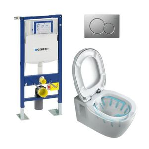 WC - TOILETTES Pack WC complet suspendu - Bâti Support Geberit