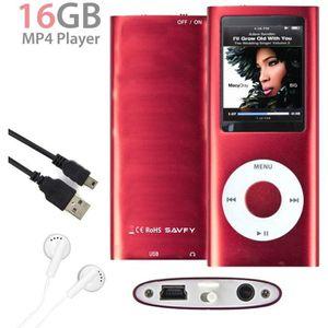 LECTEUR MP4 (Rouge) 16Go Lecteur MP4 Player Vidéo Radio Musiqu