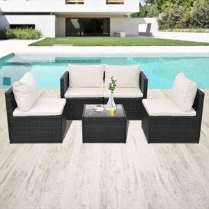 Ensemble table et chaise de jardin YaJiaSheng Jeu de canapé de jardin 13 pcs Résine t