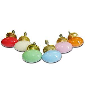 POIGNÉE - BOUTON MEUBLE Lot de 6 boutons en porcelaine - Lot 26