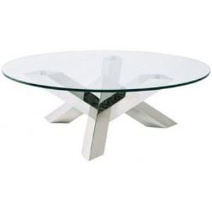 Le lit de vos r ves table basse ronde en verre design - Table basse ronde en verre design ...
