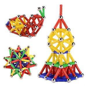 ASSEMBLAGE CONSTRUCTION 103 Morceaux Magnétiques Construction Bâtons de Bl