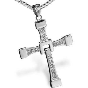 PPX Fast and Furious Vin Diesel Dominic Toretto Collier avec pendentif en forme de croix avec un Mini-bo/îte