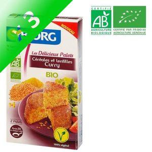 PLAT CUISINÉ PATE [LOT DE 3] BJORG Palets Céréales Lentilles Curry B