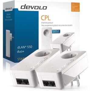 COURANT PORTEUR - CPL DEVOLO Kit 2 CPL 500 Mbit/s, 2 ports Fast Ethernet