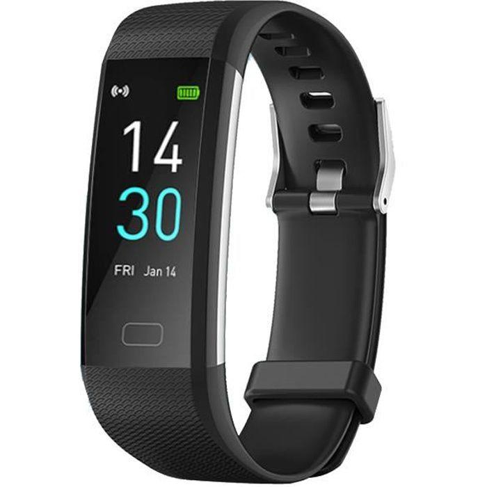 Montre Connectée Femmes Homme Cardiofréquencemètre Montre Intelligente Etanche IP68 Sport Podometre Marche pour Android iOS