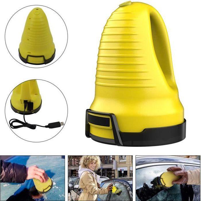 Grattoir à Glace électrique Dégivreu Chasse-Neige pour Pare-Brise, dégivreur de vitre de Voiture, Voiture d'hiver à Chargement USB