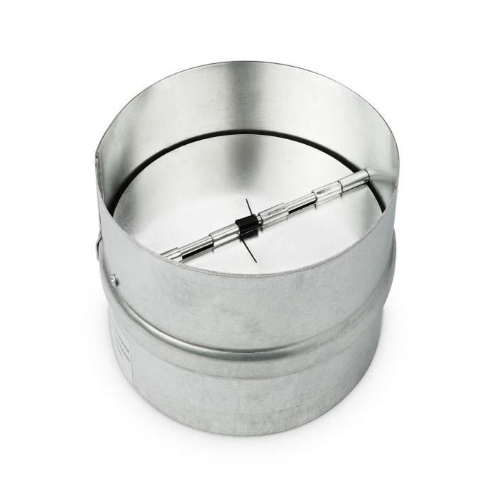 Matériel de ventilation pour culture hydroponique Klimapartner RK 125 - Raccord Acier galvanisé avec Clapet anti-retour 219696