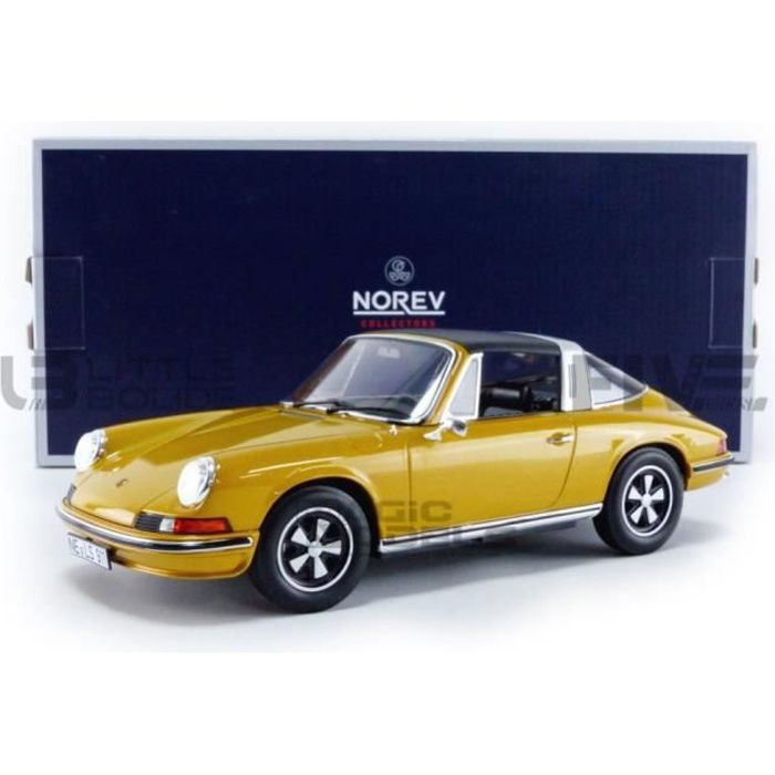 Voiture Miniature de Collection - NOREV 1/18 - PORSCHE 911 T 2.4L Targa - 1973 - Gold - 187629
