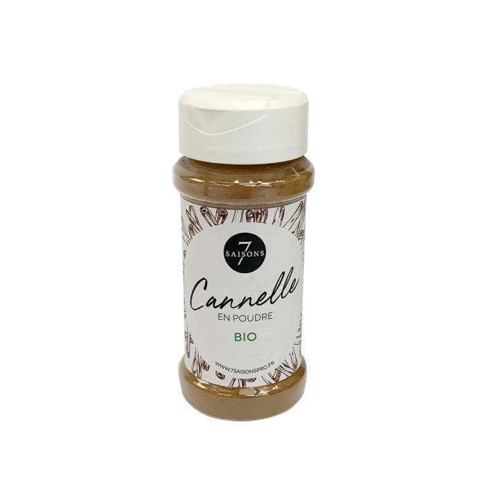 Cannelle Bio - Moulue - Vrac - Saupoudreur Plastique de 50 gr - Epice d'Exception - 7 Saisons