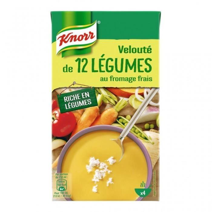 Knorr Velouté de 12 Légumes au Fromage Frais 1L (lot de 4)