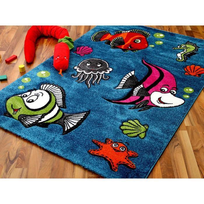 Maui Kids - Tapis pour enfant - motif poissons [120x170 cm]