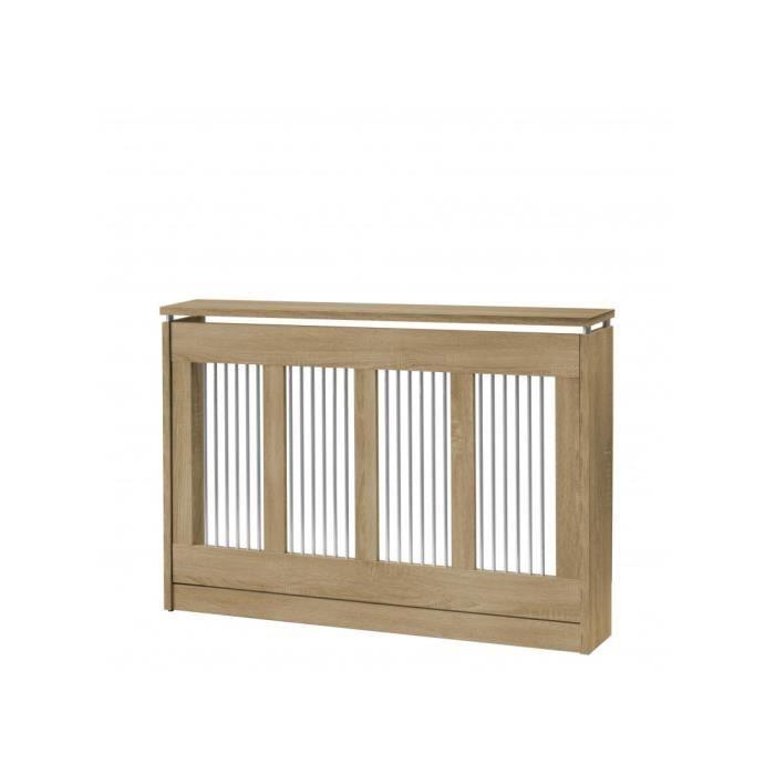 TOP KIT - Cache radiateur Cristian 3121 - 120 x 84 x 18 chêne