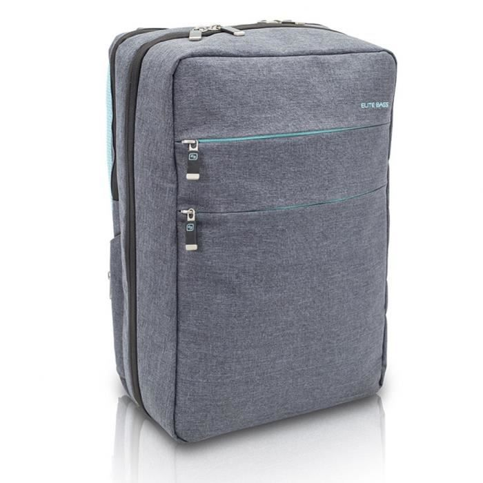 Sac à dos d'assistance à domicile - Urban CITY'S - Élite Bags - Bicolor : gris-bleu