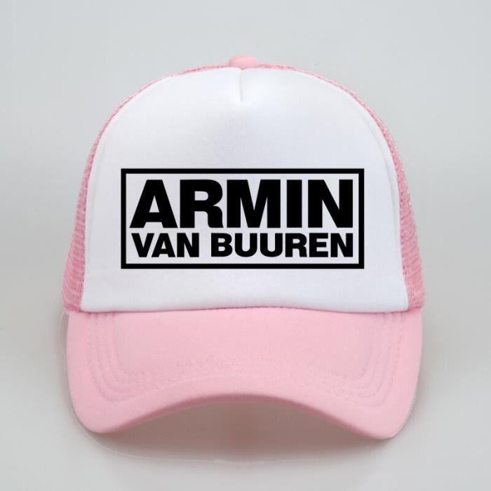 Mode Armin Van Buuren casquette DJ Fans camionneur maille Cool casquettes de Baseball ensemble dans Rose