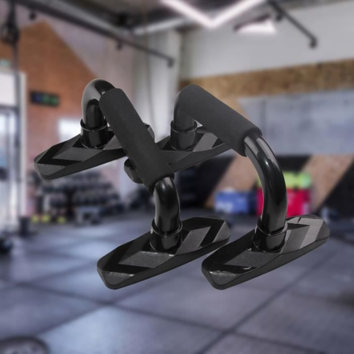 Fusion 2 Pièces Support Push-Up Poitrine Muscle Bras Force épaule Exercice Maison équipement de Remise en forme Cadre (Noir)