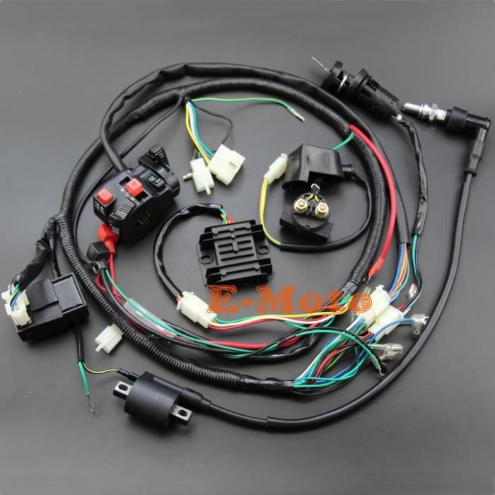 Bobines d'allumage,Redresseur de solénoïde Zongshen Lifan Loncin, faisceau électrique complet CDI, bobine d'allumage, 200cc 250cc