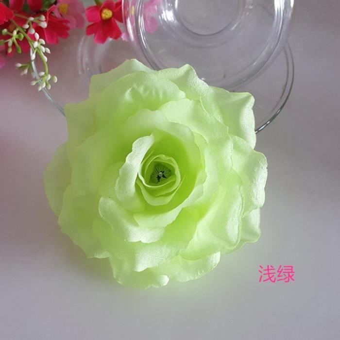 Décoration florale,Roses artificielles dorées de 10cm,fausses fleurs décoratives pour un mariage - Type light green - 10CM