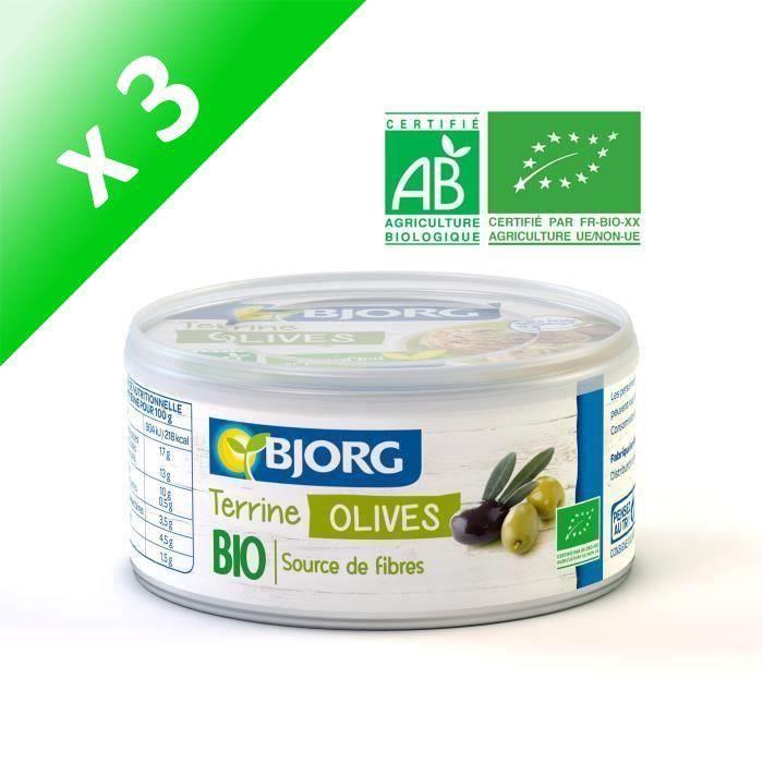 [LOT DE 3] BJORG Terrine Végétale Olives Bio 125g