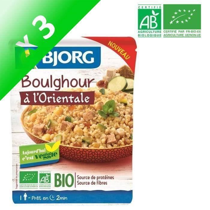[LOT DE 3] BJORG Boulghour à l'Orientale Bio 220g