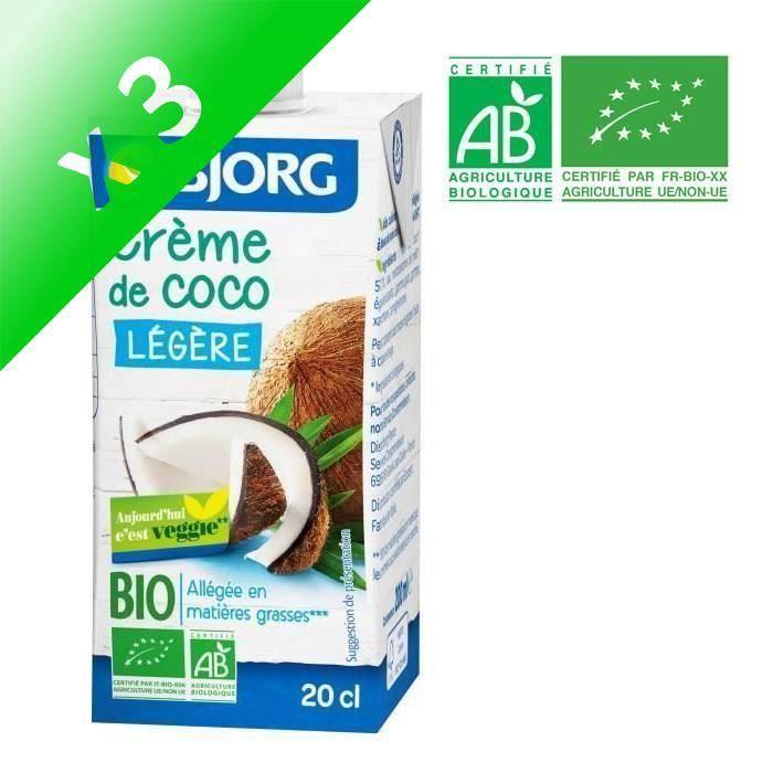 [LOT DE 3] BJORG Crème de Coco Légère Bio 200ml