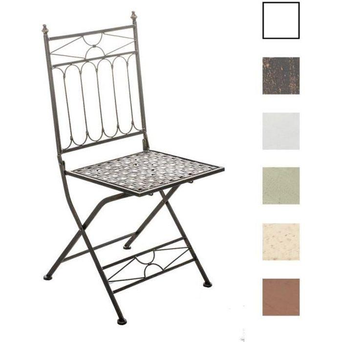 CLP Chaise pliable nostalgique ASINA Loraville, en métal, chaise en fer style nostalgique, ultra-élégant, 6 couleurs au choix95 c...