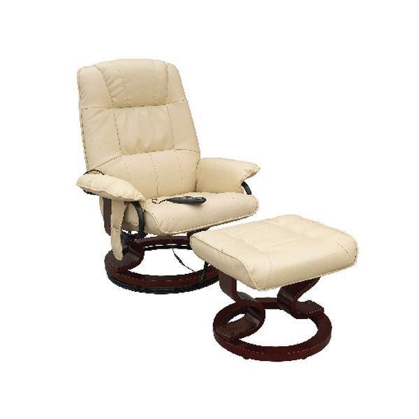 Fauteuil massant de relaxation avec repose-pied