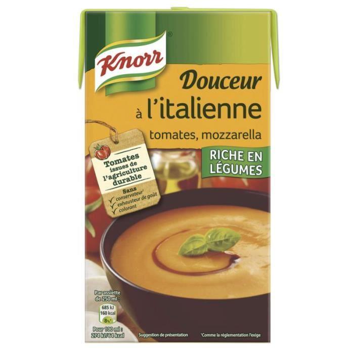 KNORR Soupe Tomates Mozzarelle - Brique de 1 L