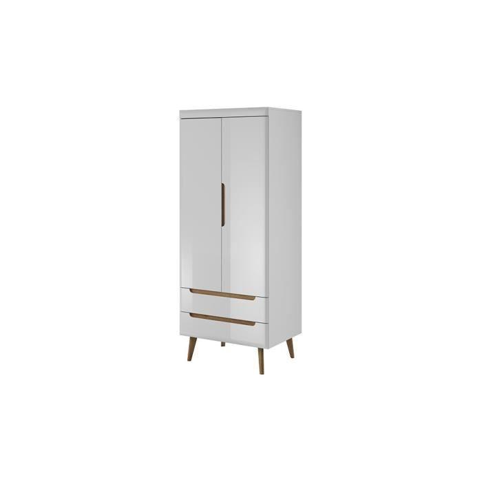Armoire NORDY 80 cm - Blanc